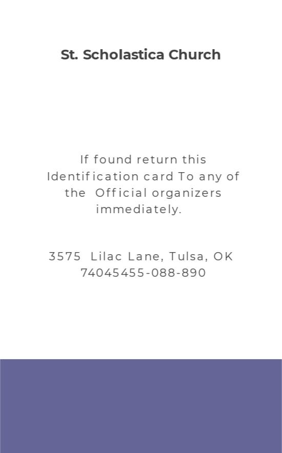 Sample Church ID Card Template 1.jpe