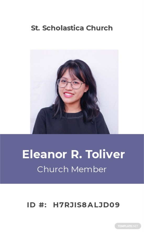 Sample Church ID Card Template