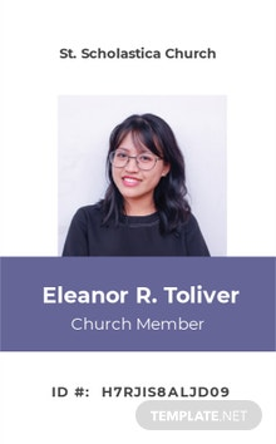 Sample Church ID Card Template