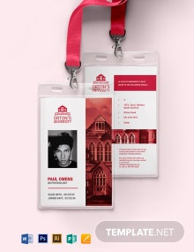 Vertical University ID Card Template