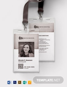 Vintage Employee ID Card Template