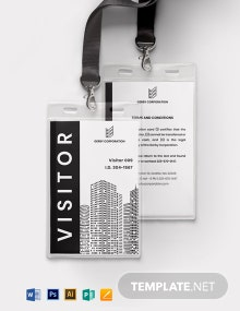Visitor Access ID Card Template