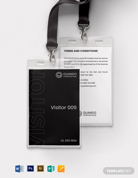 Visitor Badge Id Card Template Download 849 Id Cards In