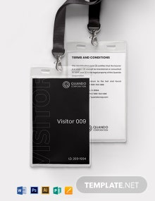 Visitor Badge ID Card Template