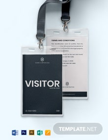 Visitor Pass ID Card Template