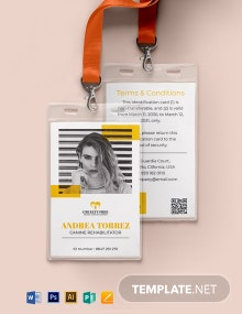 Animal Cruelty ID Card Template