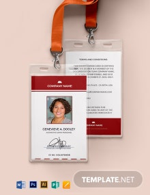 Auto ID Card Format Template