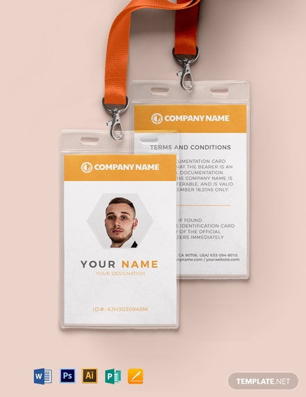 Blank Auto ID Card Template