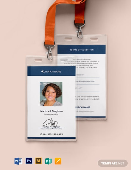 Blank Church ID Card Template