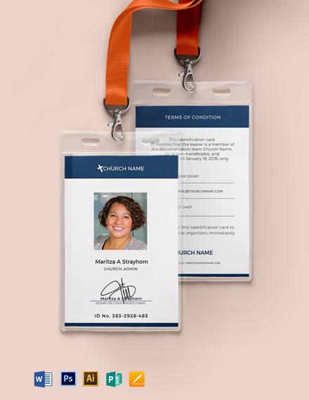 Blank Church ID Card Template