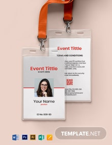 Blank Event ID Card Template