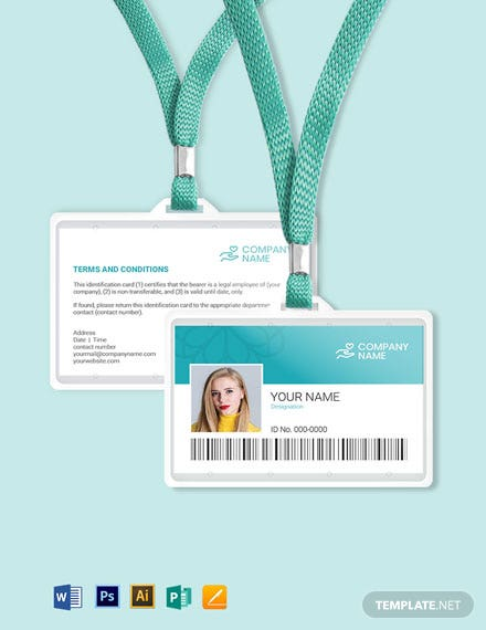 Blank Healthcare ID Card Template
