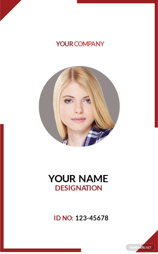 Blank Non-Profit Organizations ID Card Template [Free JPG] - Illustrator, Word, Apple Pages, PSD, Publisher