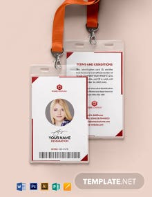 Blank Non-Profit Organizations ID Card Template