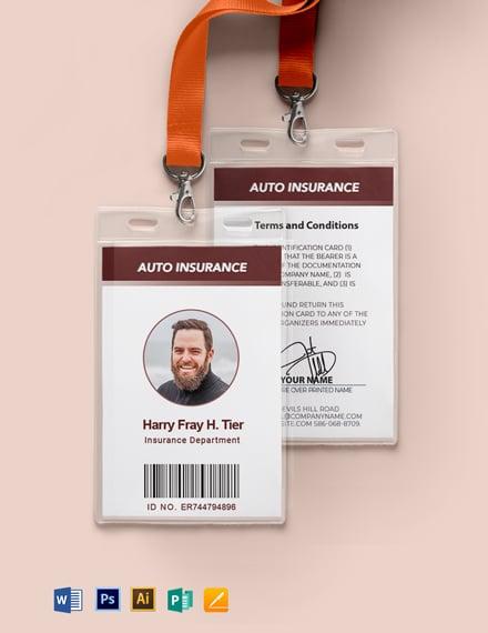 Car Insurance ID Template