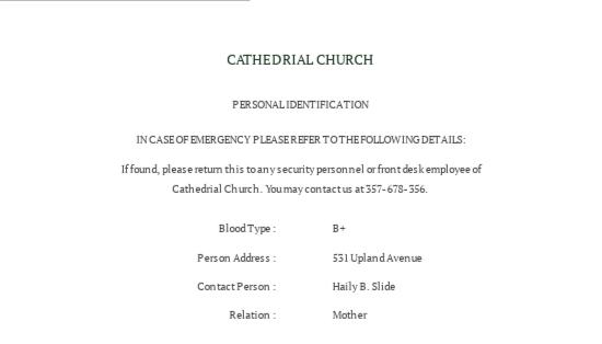 Catholic Church ID Card Template 1.jpe