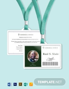 Catholic Church ID Card Template