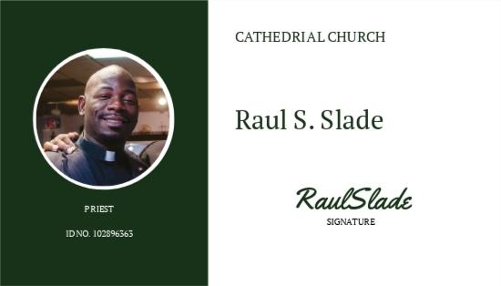 Catholic Church ID Card Template