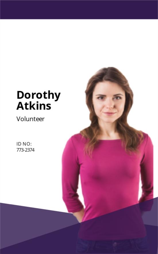 Charity ID Card Template