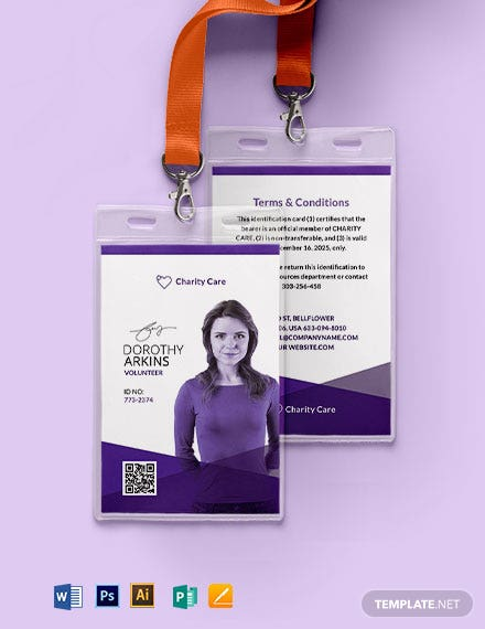Charity ID Card Template