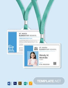 Child ID Card Template