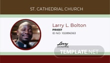 Clergy Church ID Card Template