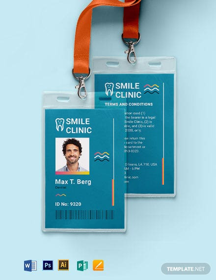 Clinic ID Card Template