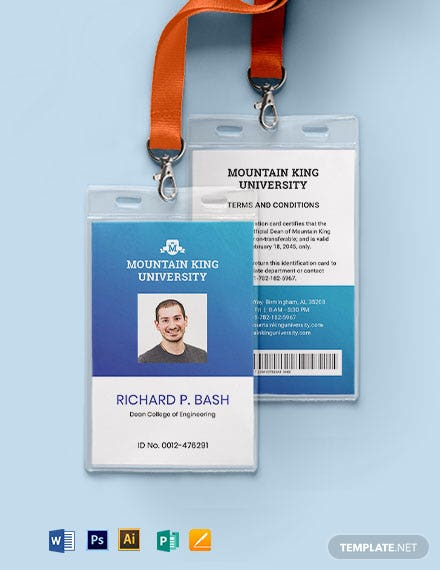 College ID Card Template