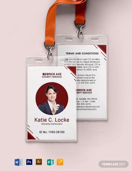 Consultant Security ID Card Template