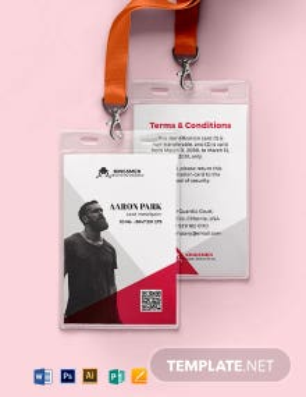 Crime Investigation ID Card Template