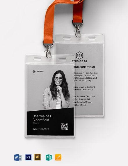 Design ID Card Template
