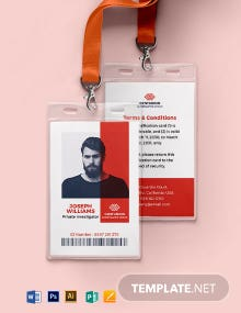 Detective ID Card Template