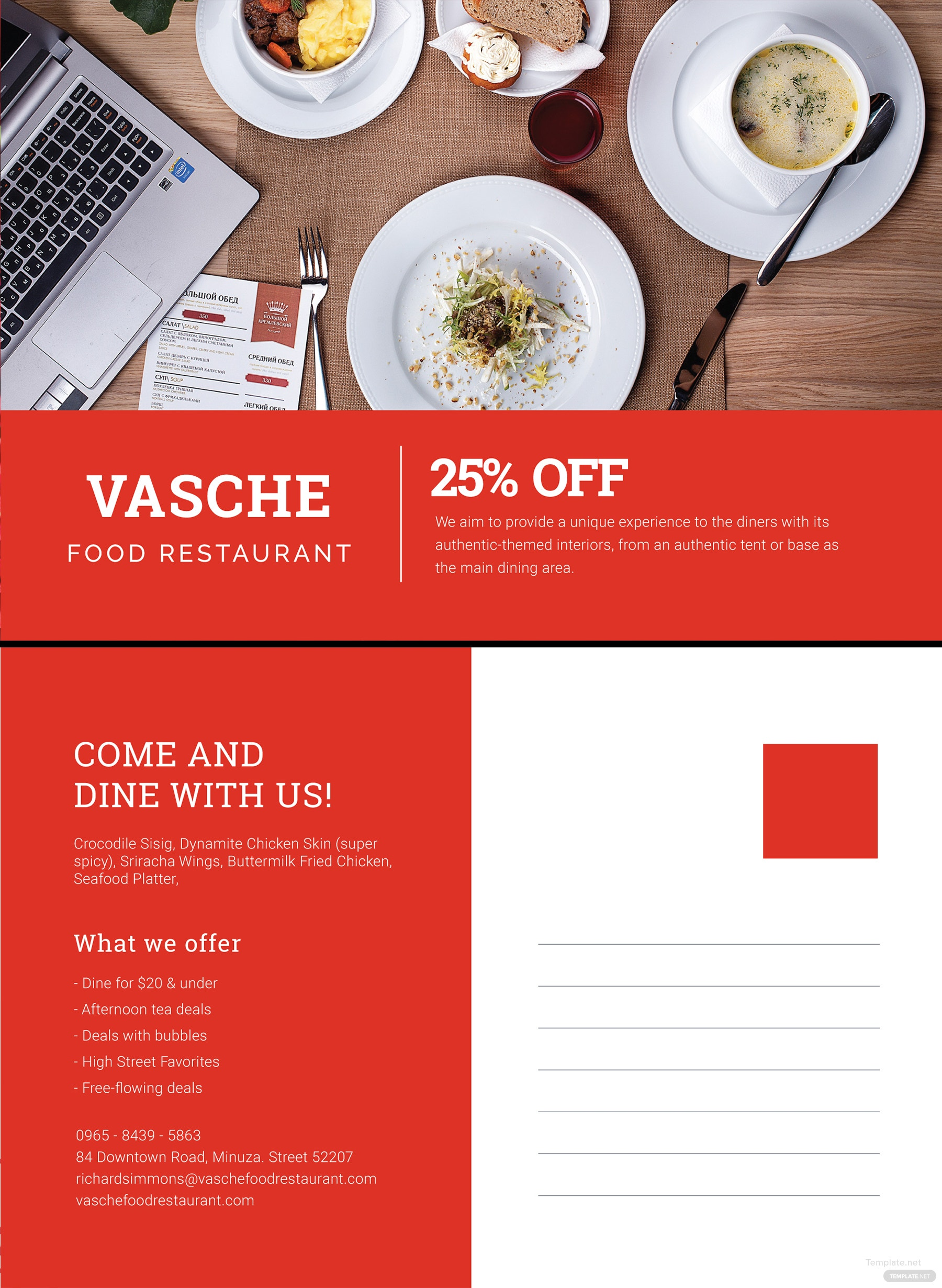 Small Business Postcard Template in Illustrator