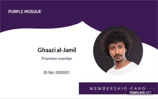 Mosque Membership ID Card Template.jpe