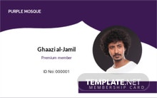 Mosque Membership ID Card Template