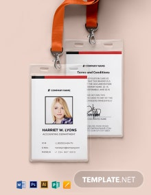 Printable Auto ID Card Template
