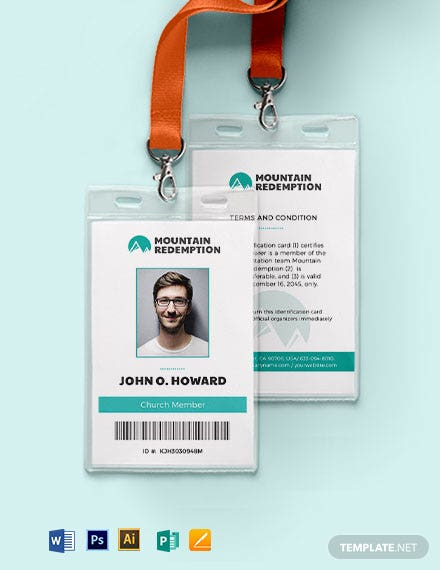 Printable Church ID Card Template