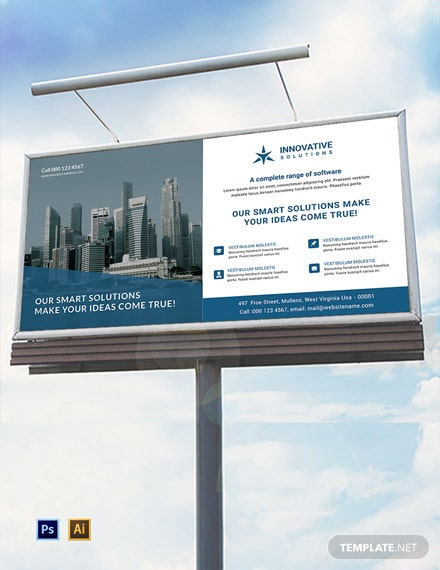 Free Business Solutions Billboard Template