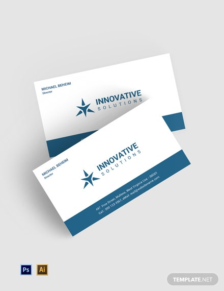 Free Business Solutions Business Card Template