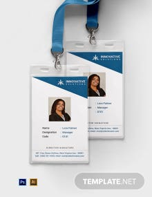 Free Business Solutions ID Card Template