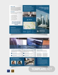 Free Business Solutions Tri-Fold Brochure Template