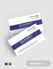 Free Renewable Energy Business Card Template