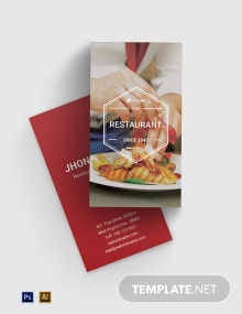 Free Ideal Restaurant Business Card Template