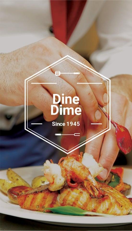 Ideal Restaurant Business Card Template.jpe