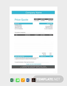 Free Business Quotation Format