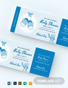 Baby Shower BBQ Ticket Template