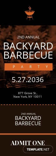 Backyard BBQ Ticket Template