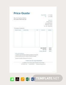 Free Price Quotation Template