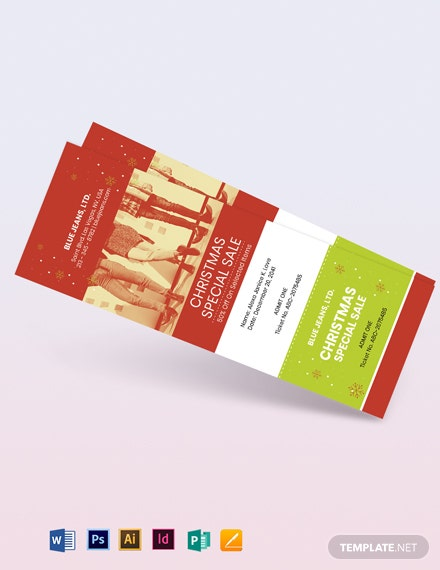 Christmas Sale Ticket Template