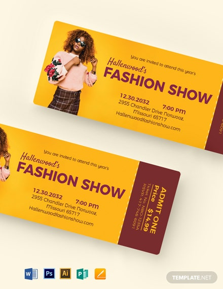 Fashion Show Event Ticket Template